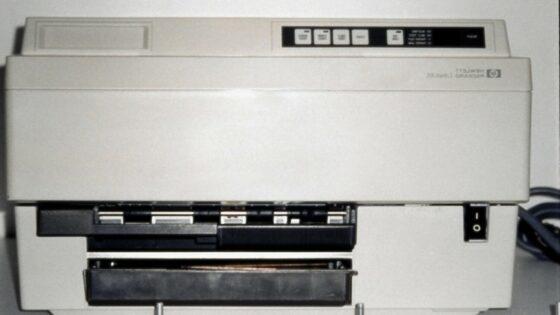 Prvi HP-jev Laserjet tiskalnik iz leta 1984.