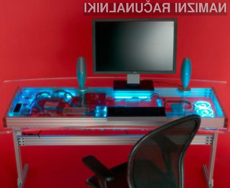 Tovrstna računalniška miza nas bi rešila nadležnega ohišja in kablovja.