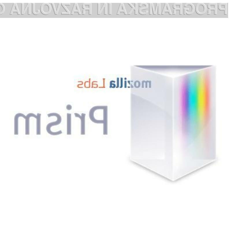 Programski vstavek Prism je pisan na kožo uporabnikom spletnih aplikacij.