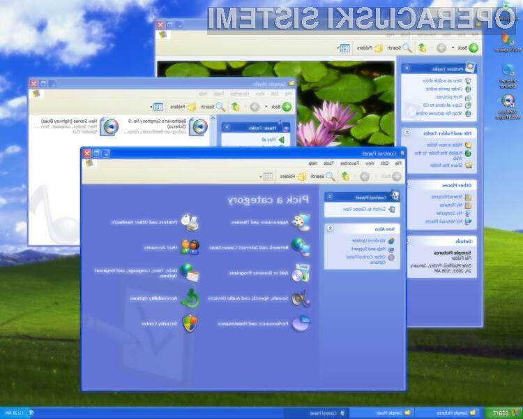 Windows XP se ne da