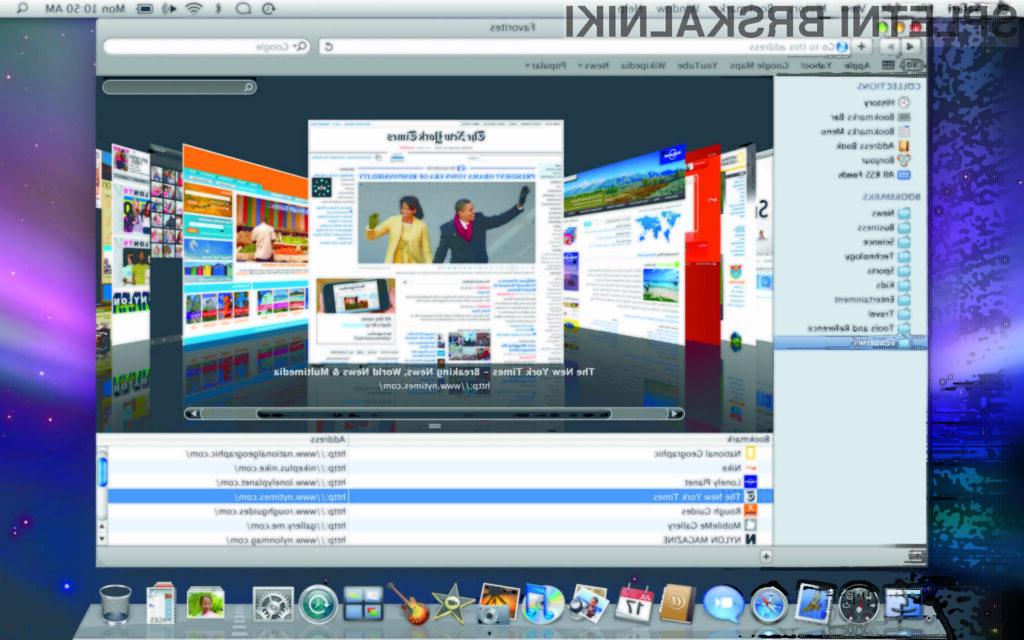 Apple Safari4 Coverflow