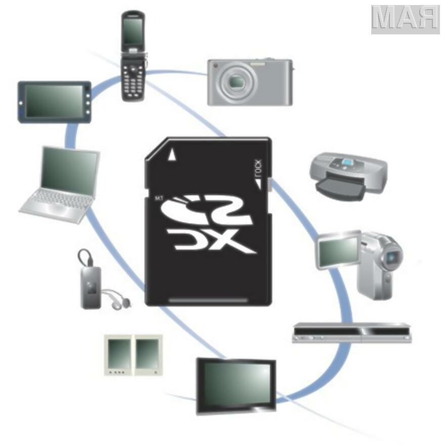 Pomnilniške kartice SDXC bodo pisane na kožo bogati paleti prenosnih naprav.