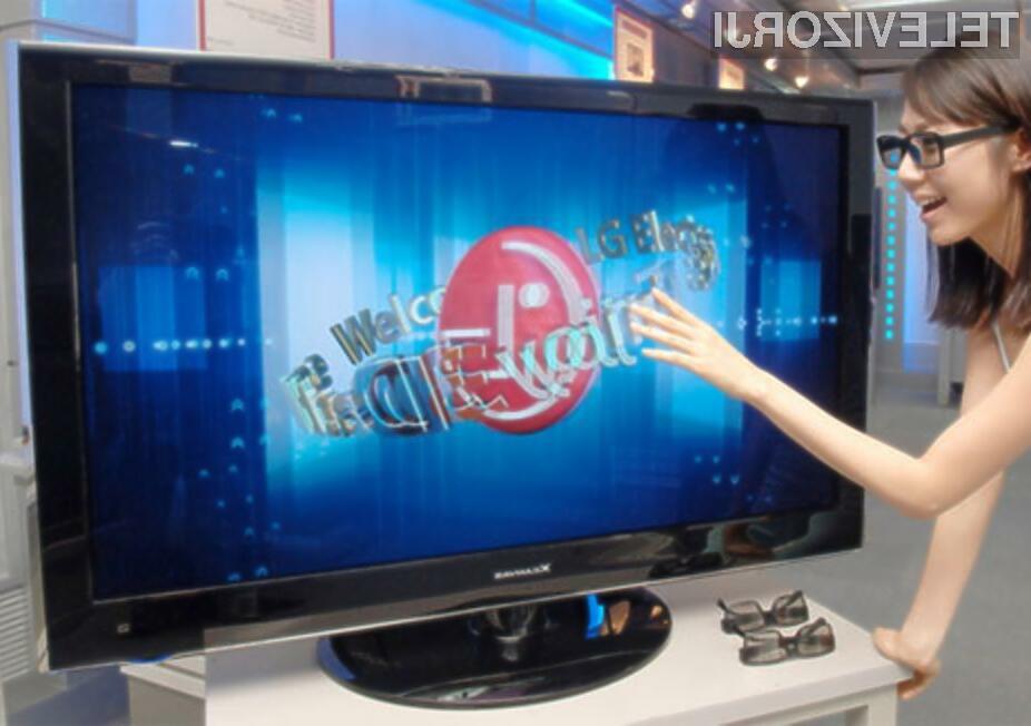 Televizor izrisuje 3D slike le v navezavi z namenskimi očali!