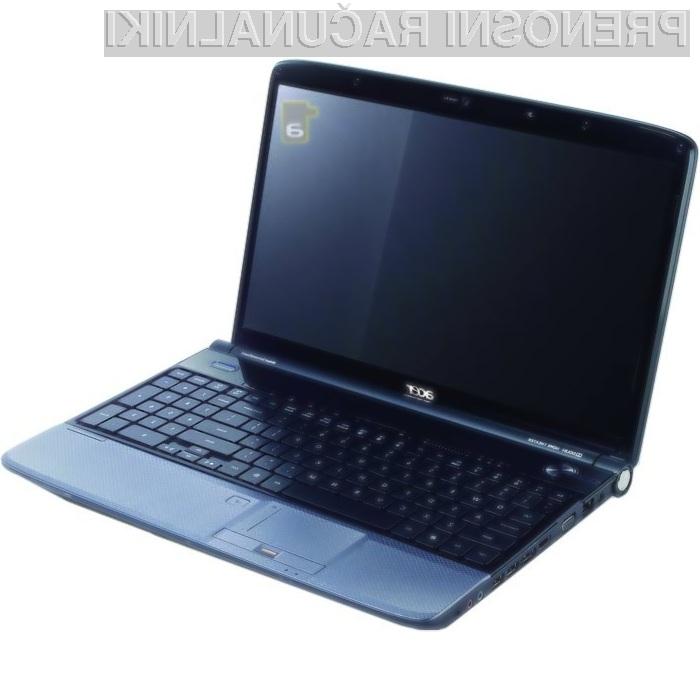 Prenosnik Acer Aspire 5739G je kos tudi najzahtevnejšim nalogam.