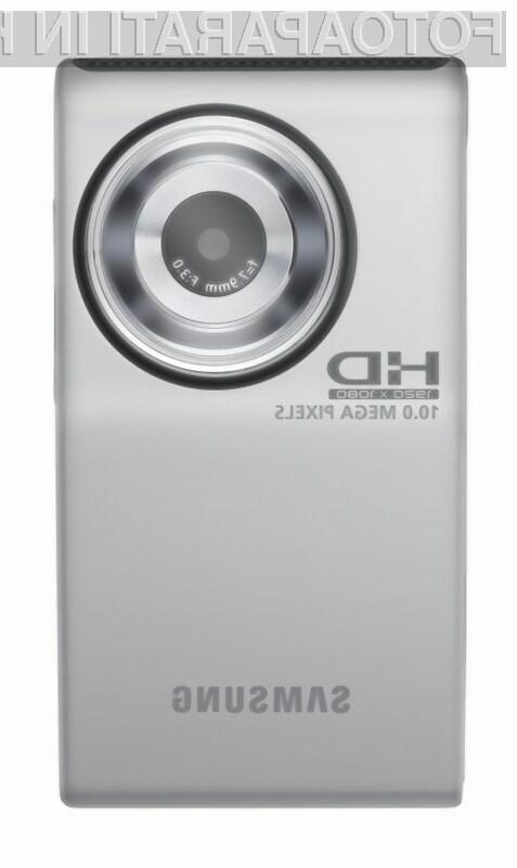 Vsestransko uporabni, cenovno ugodni in miniaturni kamkorder Samsung HMX-U10.