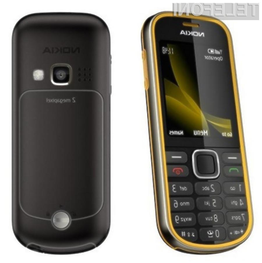 Mobilni telefon Nokia 3720 Classic bomo le stežka uničili.
