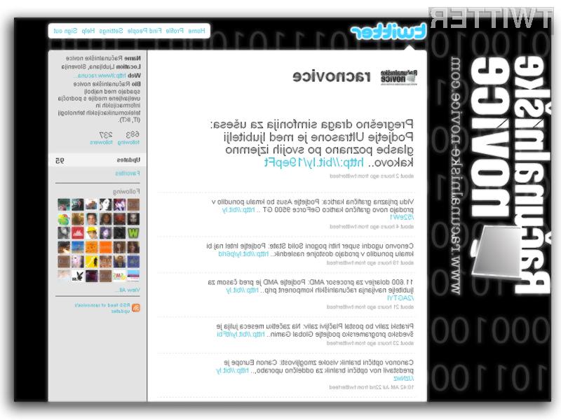 Računalniške novice in socialno omrežje Twitter se odlično ujameta!