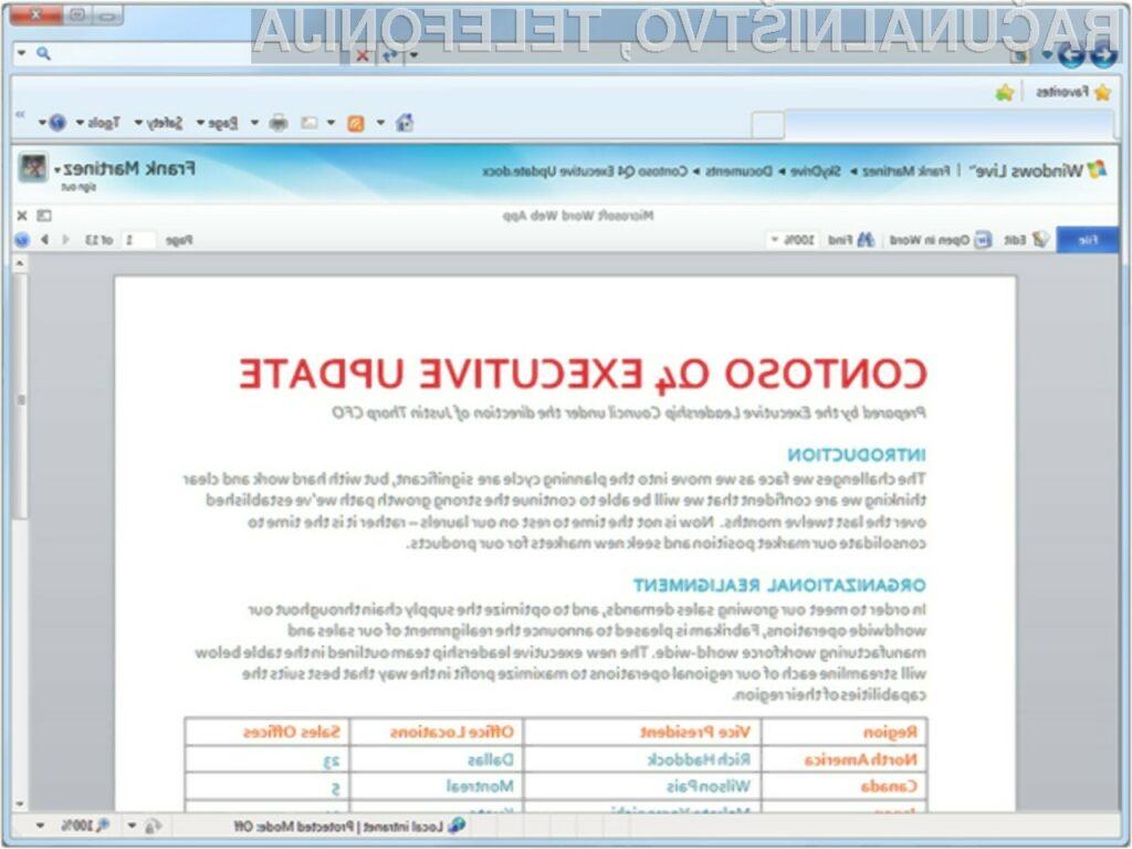 Spletna različica pisarniškega paketa Office navdušuje!
