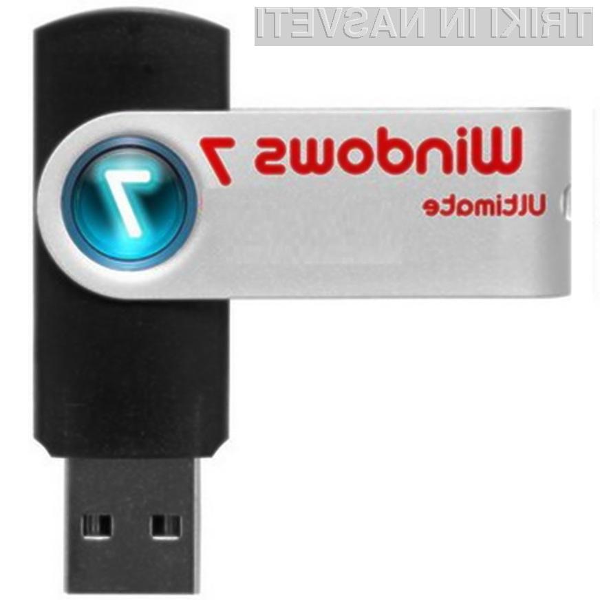 Nameščanje Windowsov 7 iz pomnilniškega ključka USB je mačji kašelj!