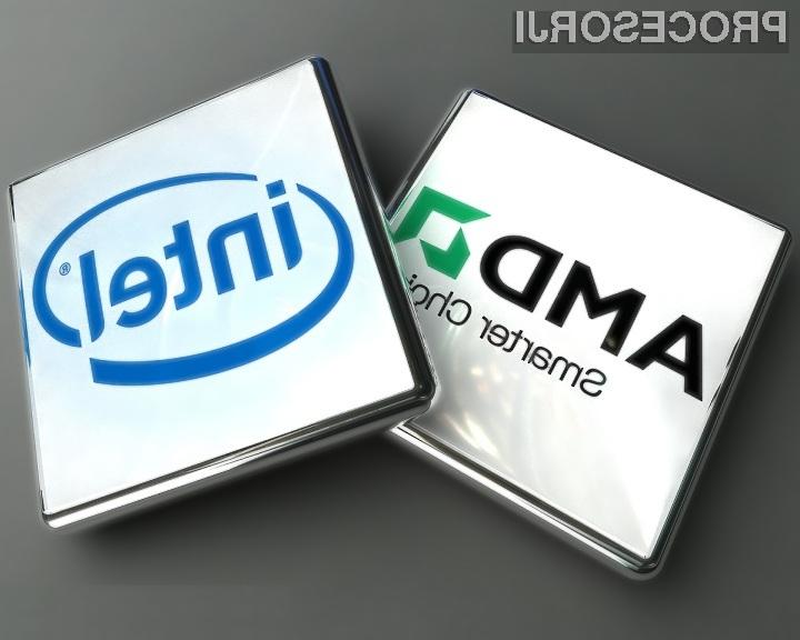 Računalničarji še vedno raje posegajo po zmogljivih in dražjih Intelovih procesorjih!
