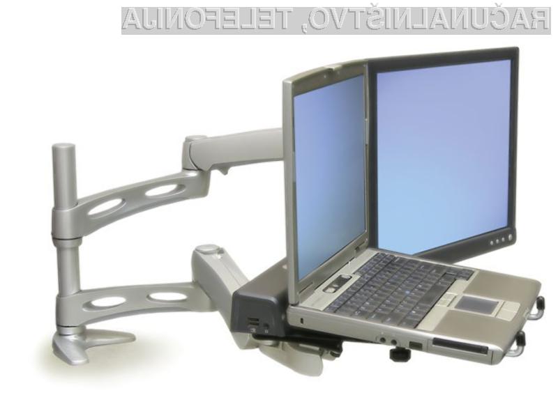 Namizni nosilec Ergotron LX Dual Desk Mount Arm