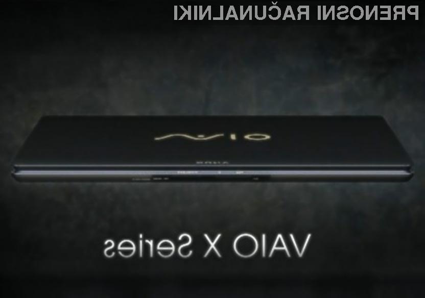 Na prenosniku Sony VAIO X bo prednameščen operacijski sistem Windows 7 Home Premium.