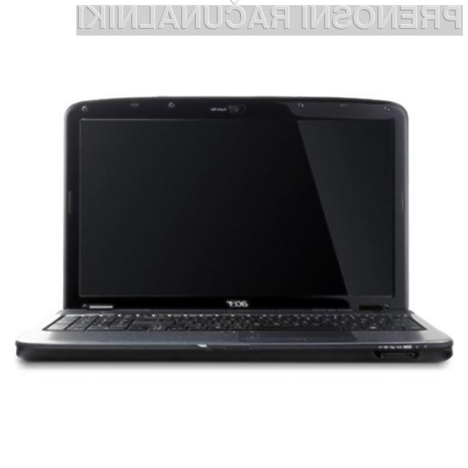 Prenosnik Acer Aspire 5738DG je prvi, ki lahko izrisuje tridimenzionalne slike.