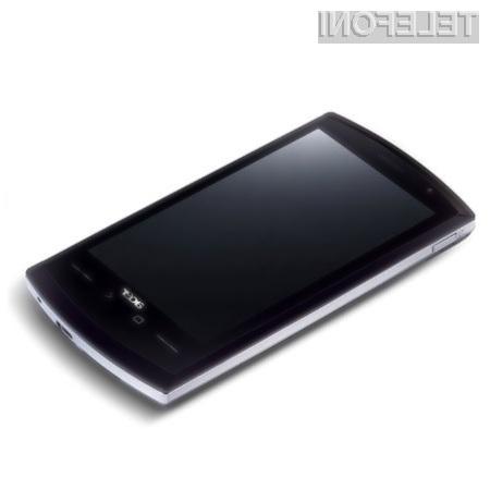 Acer Liquid je trenutno najzmogljivejši pametni mobilni telefon, opremljen s platformo Android.