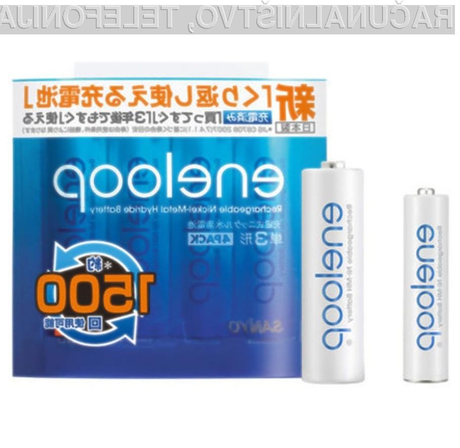 Ekološke in zmogljive baterije Sanyo Eneloops.