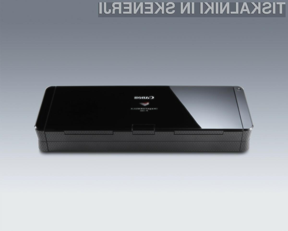 Canonov imageFORMULA P-150 je najhitrejši dvostranski optični bralnik z vmesnikom USB na trgu in je dobra prenosna rešitev za skeniranje kjerkoli.