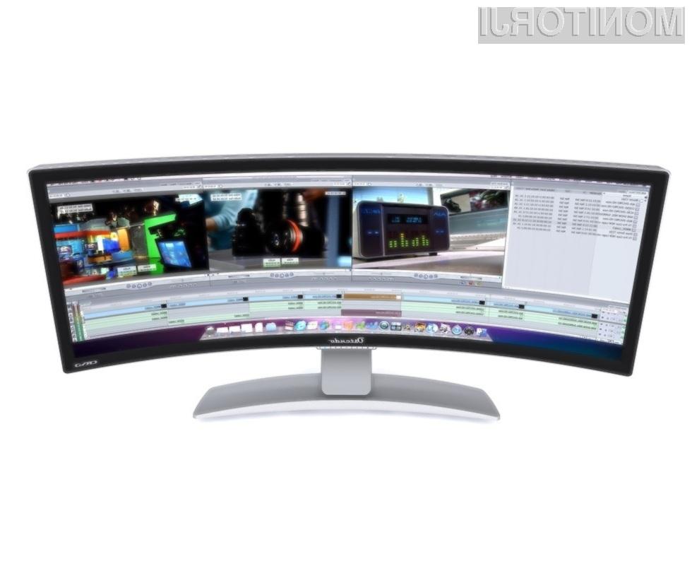 Ukrivljen zaslon zagotavlja občutno kakovostnejše igranje računalniških iger!