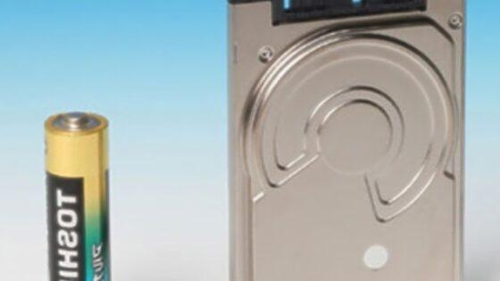 Toshiba MK3233GSG je najprostornejši trdi disk velikosti 1,8 palca oziroma 4,6 centimetrov.