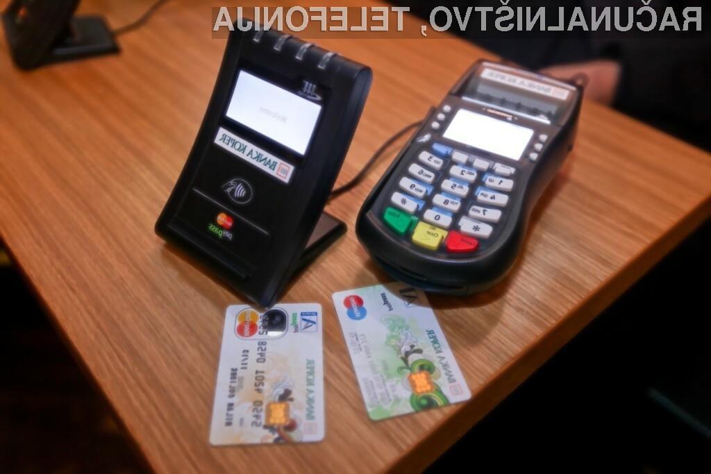 MasterCard PayPassTM za preprosto, hitro in varno plačilo izdelkov le s približanjem plačilne kartice ali mobilnega telefona POS-terminalu.