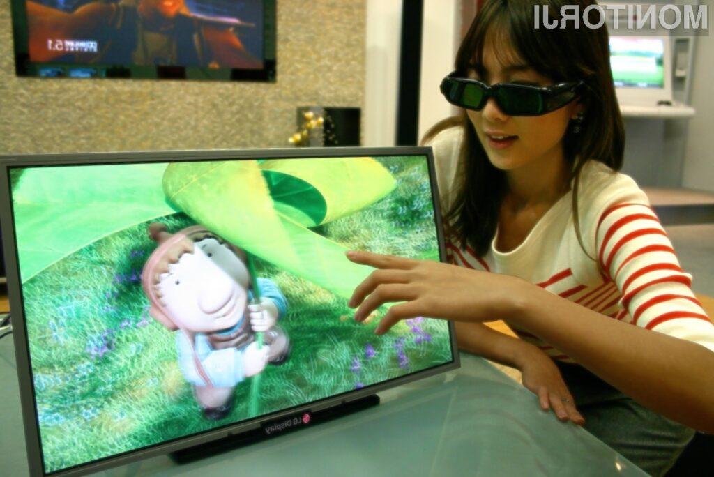 Zaslon LG Full HD 3D izrisuje visokoločljive slike na način, kot da bi dejansko izstopale nekaj centimetrov iz zaslona.