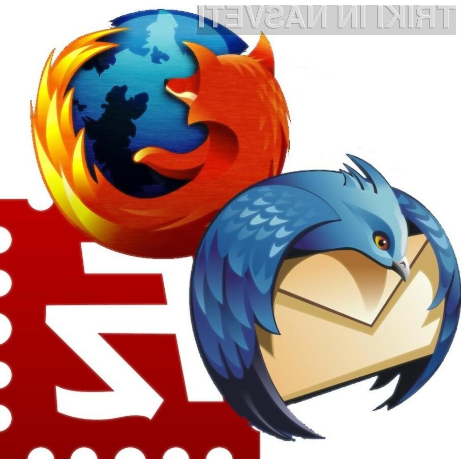 Firefox in Thunderbird sta tudi v Sloveniji precej priljubljena.