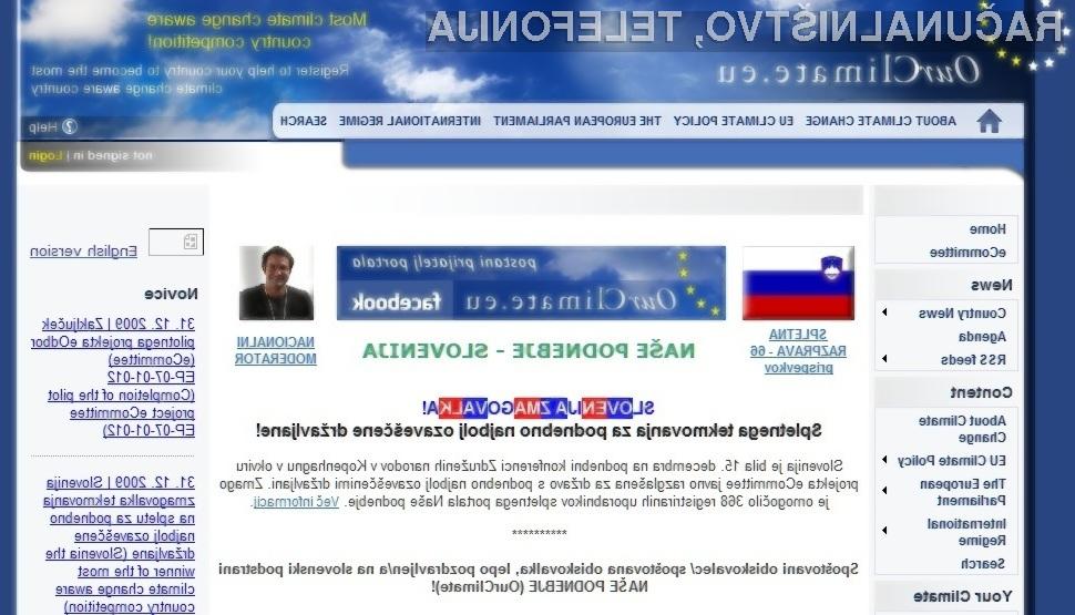 Interaktivna spletna platforma e-participativnega projekta eOdbor (eCommittee).