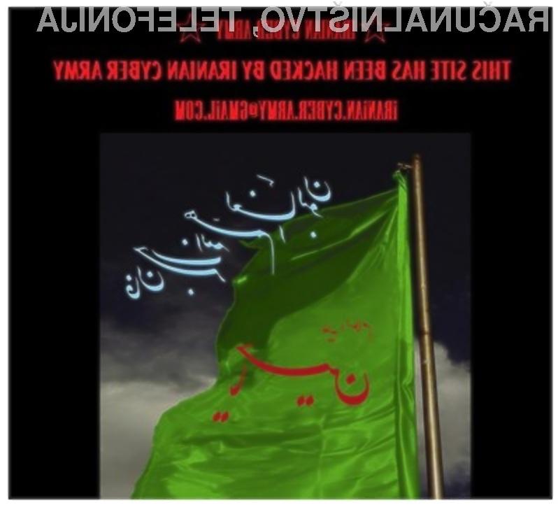 Socialna mreža Twitter se je očitno močno zamerila iranski hekerski skupini Iranian Cyber Army.