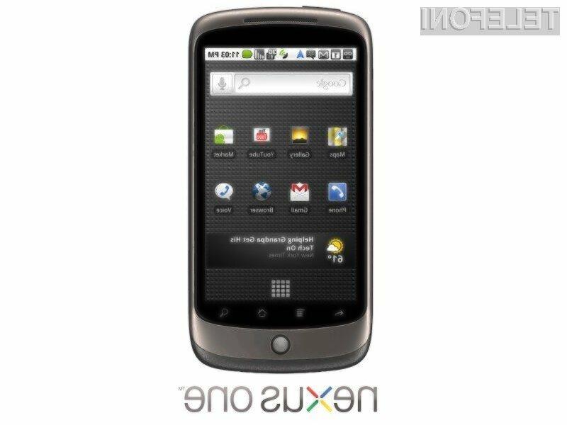Novi pametni mobilni telefon Google Nexus One bo bogatejši za tipkovnico in zmogljivejšo baterijo.