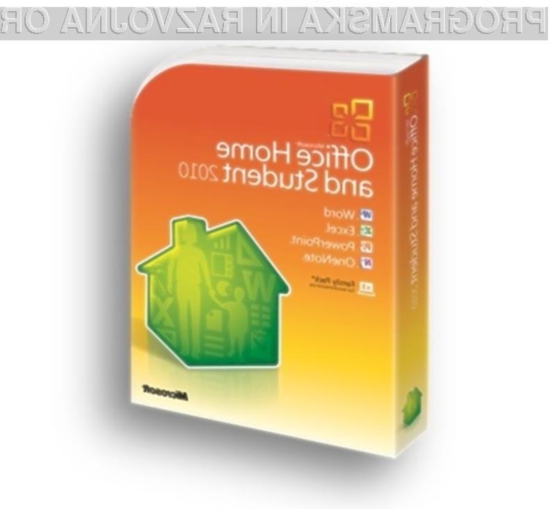 Pisarniški paket Microsoft Office 2010 naj bi bil onkraj luže naprodaj že v začetku junija.