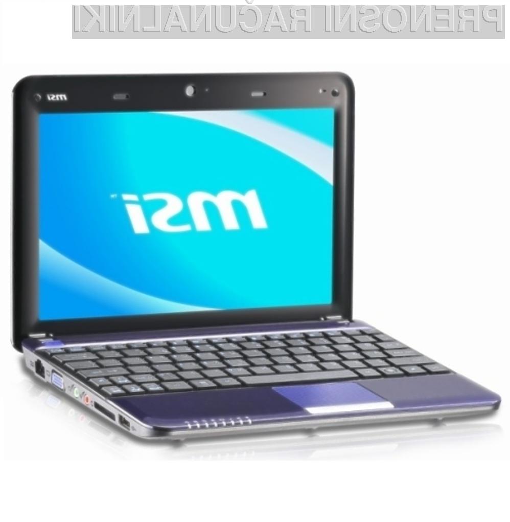 Cenovno ugodni žepni računalnik MSI Wind U135 je kot nalašč  tudi za predvajanje videoposnetkov.