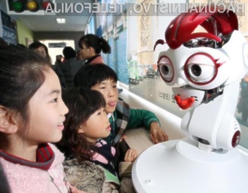 Južnokorejski otroci so nad robotom-vzgojiteljem sila navdušeni!