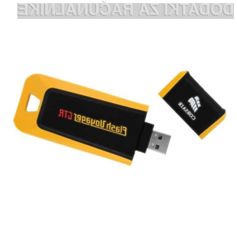 Pomnilniški ključ Corsair Voyager GT z vmesnikom USB 3.0 prenaša podatke kot za stavo.
