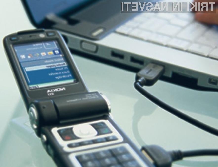 Vmesnik USB je namenjen hitremu in enostavnemu povezovanju prenosnih naprav z računalnikom!