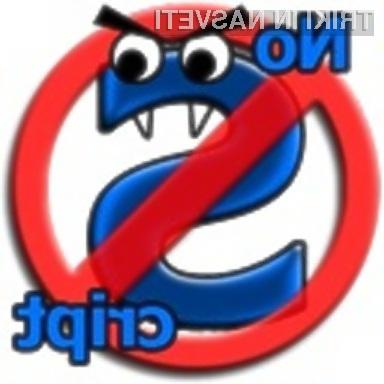 Nevarnostim skriptnih kod se najlaže izognemo tako, da skriptne kode sploh ne omogočimo!