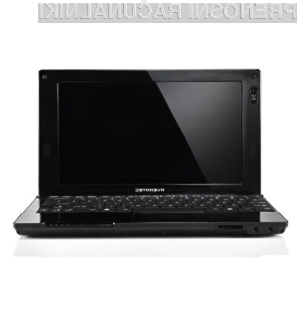 Žepni računalnik Averatec N1200 bomo zlahka prenašali naokrog!