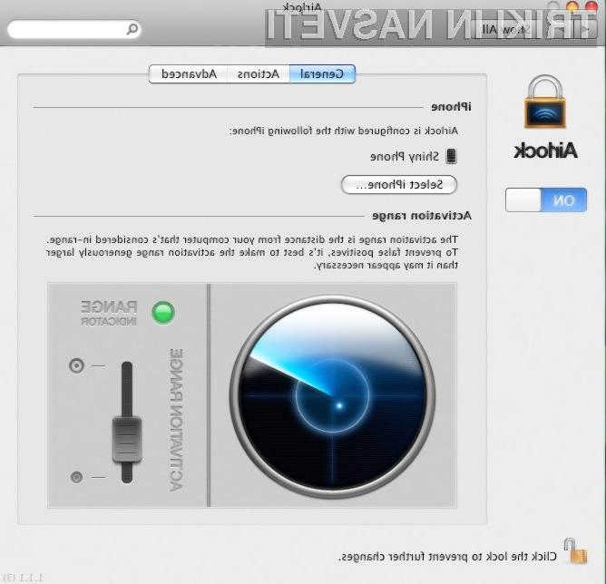 Airlock deluje s pomočjo Mac-ovega bluetootha in kadar zazna, da se je iPhone ali iPod Touch oddaljil od računalnika, ga avtomatsko zaklene.