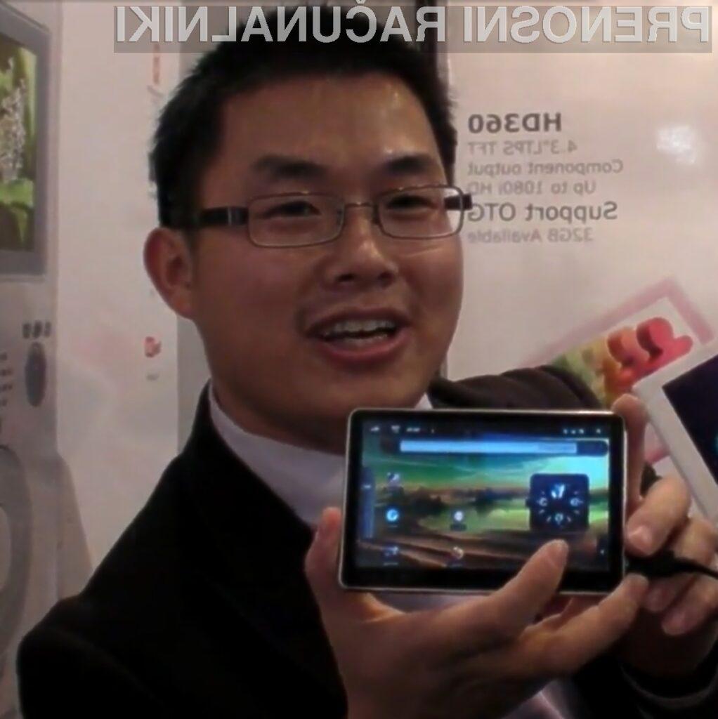 Miniaturni tablični računalnik Hott MD500 bi lahko bil na Kitajskem resen tekmec Applovemu iPadu.