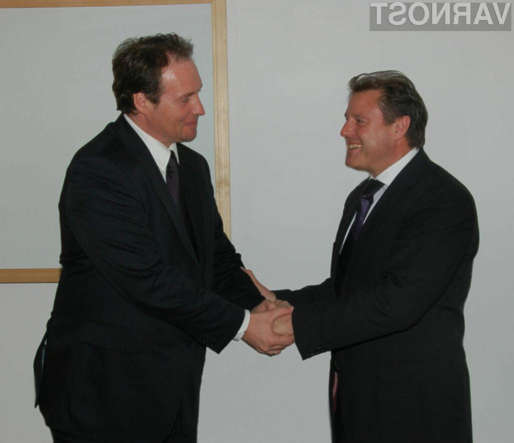 Hans Peter Bauer Vice President Central Europe pri McAfee, Renato Uhl, direktor REAL security d.o.o.