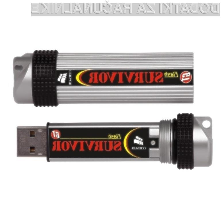 Pomnilniški ključ Corsair Survivor GTR brez težav prenese tudi najhujše obremenitve!