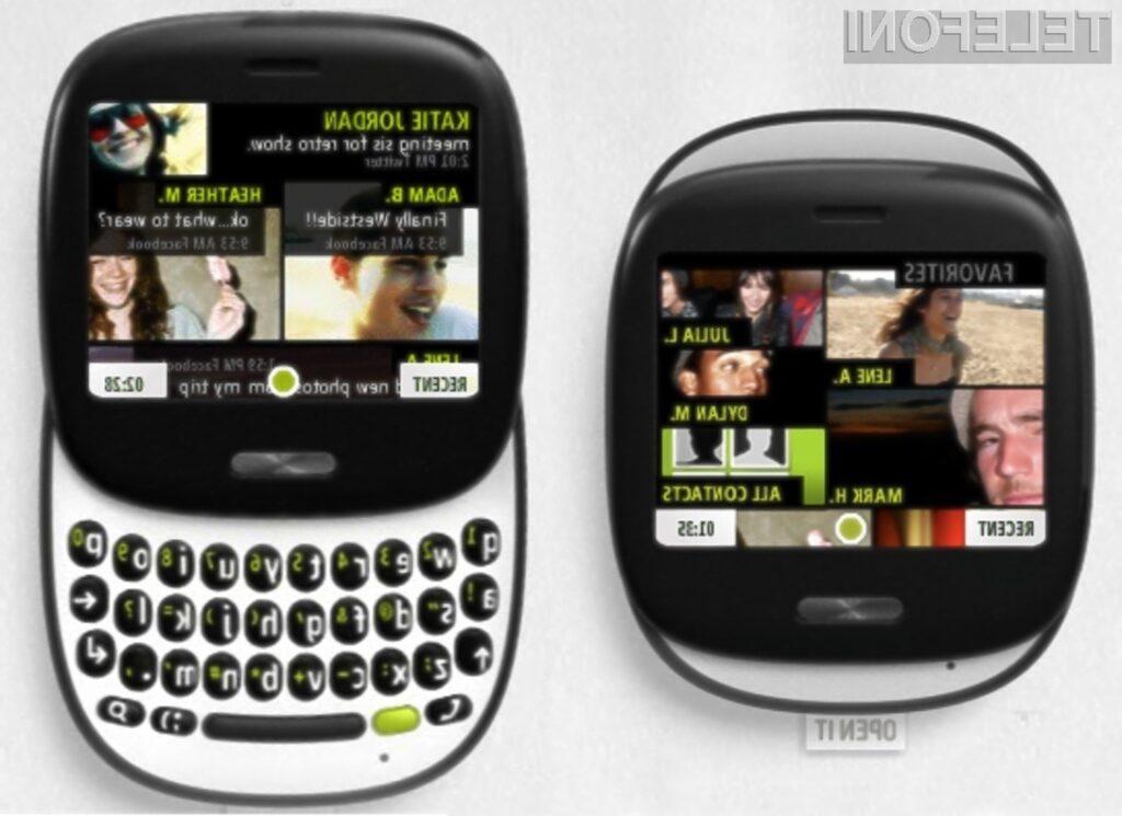 Oblikovno zanimivi mobilnik Microsoft Kin One.