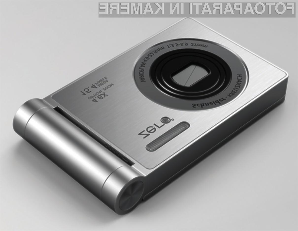 Digitalni fotoaparat Zero Angle po obliki spominja na preklopne mobilne telefone.