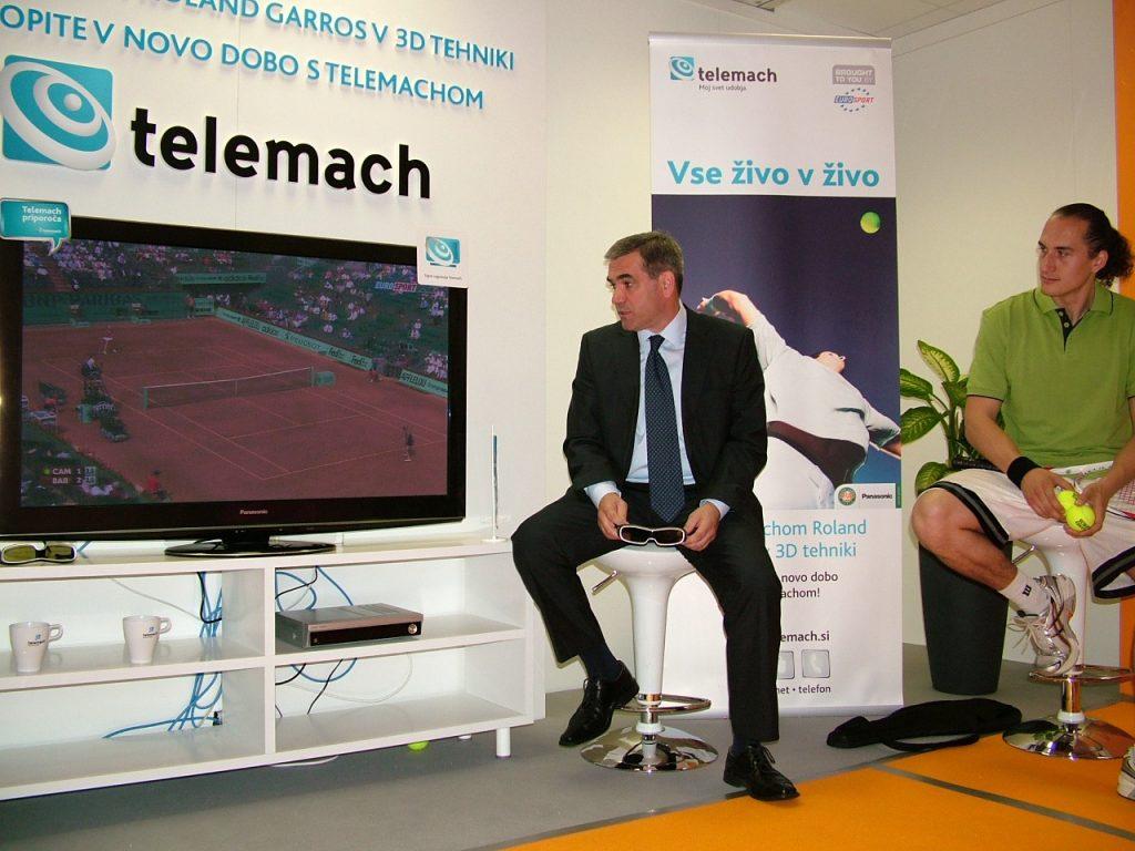 Od leve proti desni – Roman Volčič (direktor podjetja Telemach d.o.o.) in Vid Valič