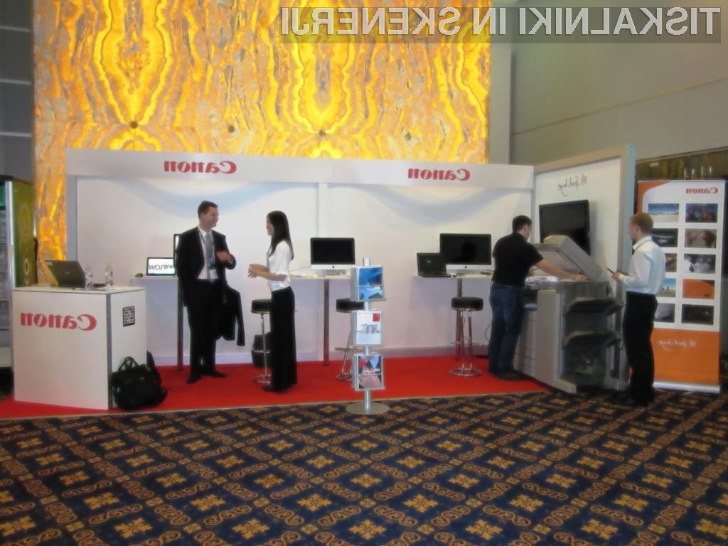 Canon na NT konferenci 2010 z rešitvami za podporo dokumentnim tokovom v podjetjih