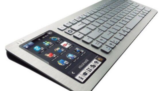 Kompaktni osebni računalnik Asus EeeKeyboard PC EK1542 je le za odtenek večji od običajne tipkovnice.