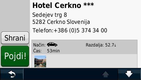 Garmin Vodič pohodniških in kolesarskih hotelov v Sloveniji