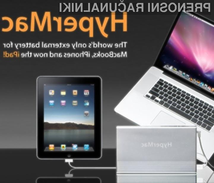 Zunanja baterija Apple HyperMac lahko avtonomijo tabličnega računalnika iPad podaljša za kar 100 ur!