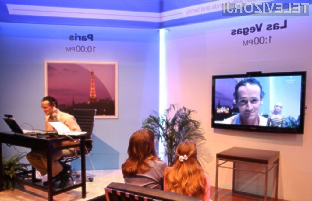 S televizorji Panasonic je odslej mogoče opravljati tudi visokoločljive videokonference!