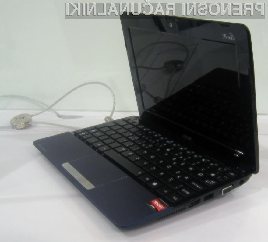Novi Asusov žepni računalnik Eee PC 1015T s platformo AMD Vision je kos tudi zahtevnejšim nalogam.