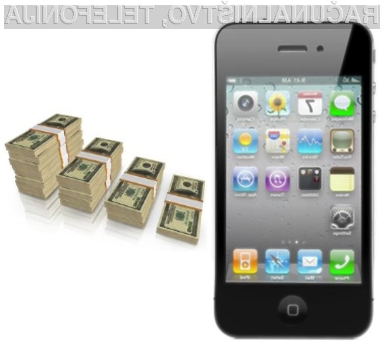 Applov pametni mobilni telefon iPhone 4 naj bi se kljub visoki ceni tudi v prosti prodaji prodajal za med!