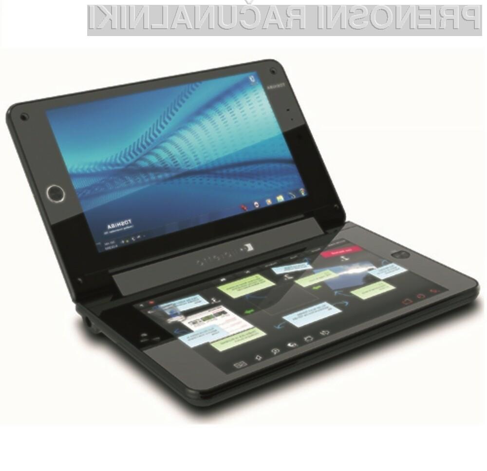 Toshiba Libretto W100 je prvi dvozaslonski tablični računalnik, opremljen z Okni 7.